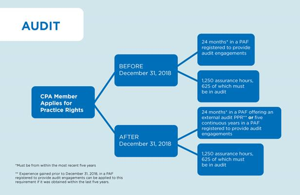 Details of Requirements for Audit