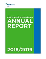 CPA Education Foundation Annual Report 2018-2019